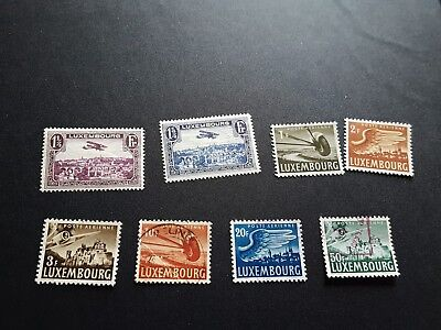 luxembourg stamps airmails mhog /used collection b428