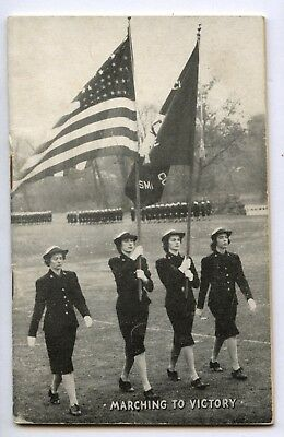 WWII WW2 USN US Navy WAVES Women's Service Songbook MARCHING TO VICTORY