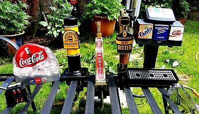 Excellent Set Of Bar Optics , Pump And Can And Bottle Opener