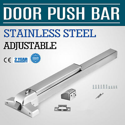 Push Bar Panic Exit Device Fits 28 to 36 doors Stainless Steel New