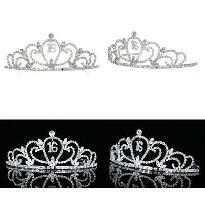 Headbands Sweet 16 Birthday Party Princess Rhinestone Crystal Tiara Crown Girls