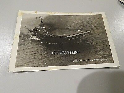 1944 Official U.S. Navy  Photograph Postcard of the U.S.S. WOLVERINE