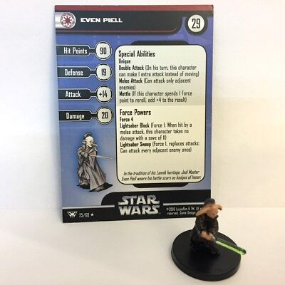Star Wars Champions of the Force #25 Even Piell (R) Miniature