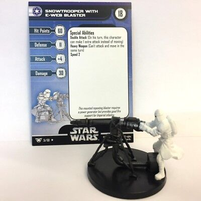 Star Wars Champions of the Force #51 Snowtrooper with E-Web Blaster (R) Miniatur