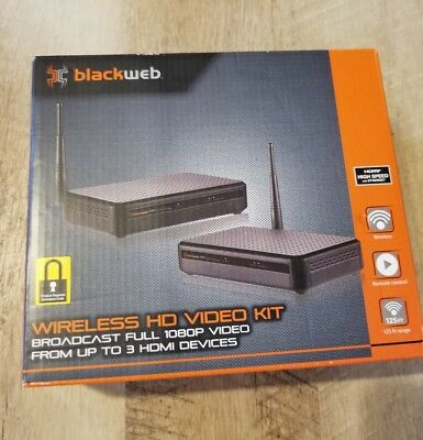 Blackweb Wireless HD Video 1080P Transmitter Receiver Kit - Up to 3 HDMI Devices