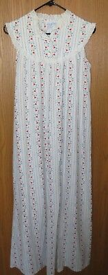 vintage LANZ of SALZSBURG sleeveLess LONG GRANNY style summer nightgown size M