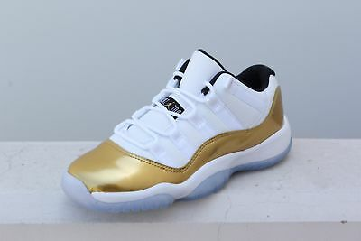 d227101372fe1b 528896-103 Big Kids Air Jordan 11 Olympics Closing Ceremony Retro Low GS  Gold