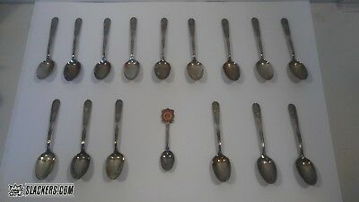 Vintage Collectible U.S. PRESIDENTS Spoons SILVER PLATED 16-PC SET! Historical