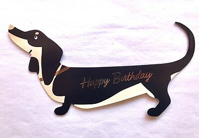 NEW Dog Greeting Card Birthday Dachshund Dogs Gifts 3D