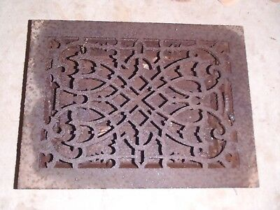 Vintage Cast Iron Floor Heat Vent Grate Register Rusty Primitive Decorative