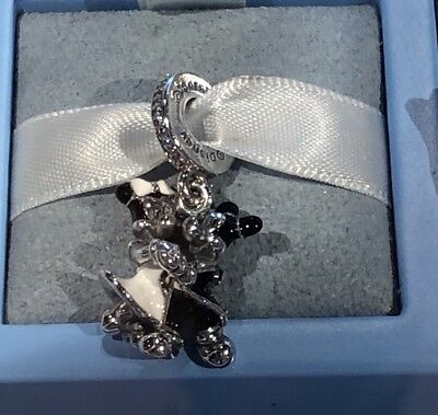 Authentic Disney Pandora S925 Sterling Silver charm Dancing Mickey and Minnie