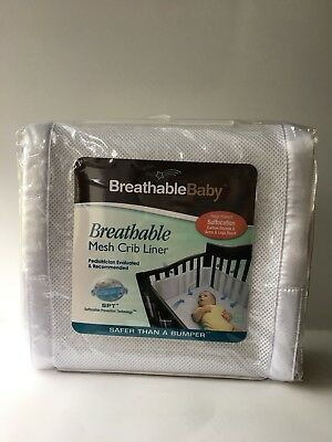 BreathableBaby Breathable Baby Mesh Crib Liner White, New