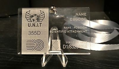 Doctor Who - Osgood Prop Replica UNIT ID Badge for Cosplay