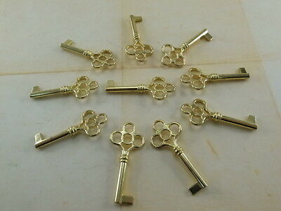 Vintage Style Open Barrel Skeleton Key Furniture Cabinet (Lot of 10) New