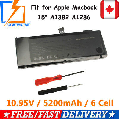 """New Battery for Apple A1382 A1286,Macbook Pro 15"""" Early,Late 2011 Mid 2012"""