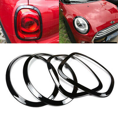 Black Headlight Taillight Surround Rim Decoration Covers For Mini Cooper F55 F56