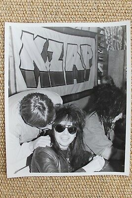 Motley Crue Mick Mars Nikki Sixx Tommy Lee Vince Neil Original KZAP Radio Photo