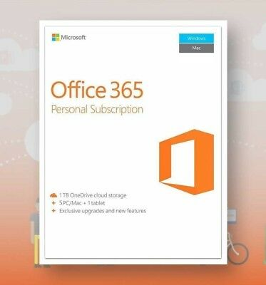 Microsoft Office 365 - 5 PC subscription 1 TB Onedrive
