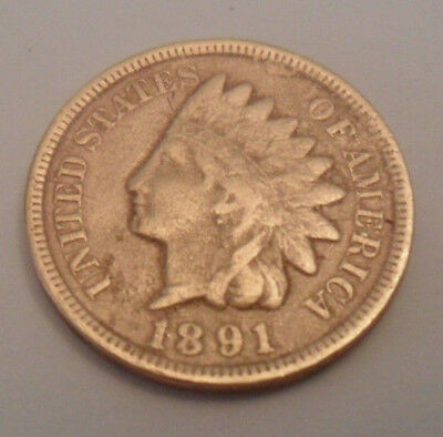 1891 P Indian Head Cent / Penny  SDS  **FREE SHIPPING**