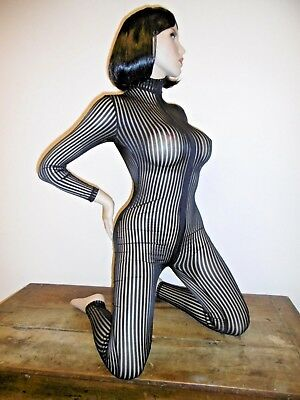 Combinaison Moulante Sexy Catsuit Shiny Tu 2 Voies Overall All In One 438-