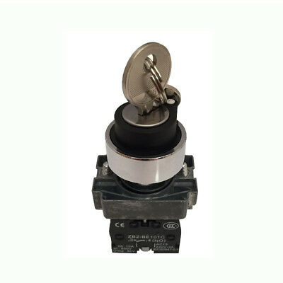 SUNS 22mm Selector Switch Metal 3-Position Momentary Black Lever 2NO