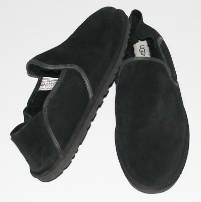 70569aa715f UGG~MEN'S~BLACK~SUEDE LEATHER~UGGPURE™LINED *COOKE* COMFORT SLIPPERS  SHOES~13