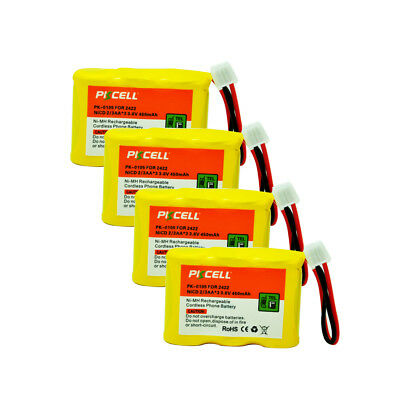 4 Cordless Phone Battery For AT&T 2422 2440 2447 2455 BPT27 P301 80-5074-00-00