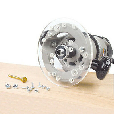 """Acrylic 6 1/2"""" Router Base Plate for Dewalt 621, 625, 616, 618 series"""