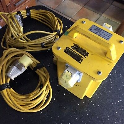 Portable 3.3 KVA Transformer With 2 Output Sockets And 2 Extension Leads