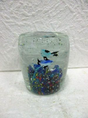 Sulfure Presse Papier Decor Poissons