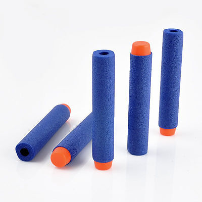 10PCS Blue Kids Refill Toy Gun Bullet Dart Round Head Blasters For NERF N-Strike