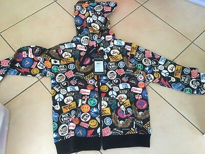 Rock Your Baby Patches  Hoody Sz 7  Bnwt Rrp $59.95