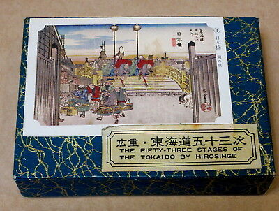 The 53 Stages Of The Tokaido Hiroshige Boxed Card Set Complete