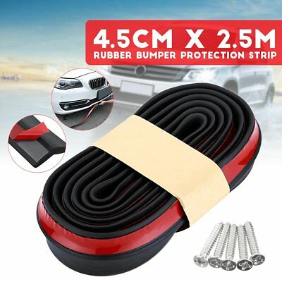 "2""x98"" Car Front Bumper Splitter Spoiler Protection Body Lip Rubber Valence Chin"