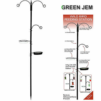 Green Jem Traditional Metal Wild Bird feeding station Gardens Wild Birds BNIB