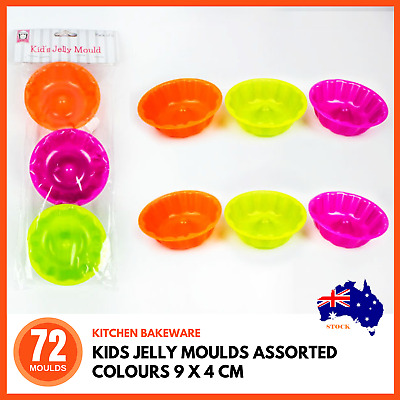 72 x KIDS JELLY MOULD Flexible Silicone Mold Candy Chocolate Cake Jelly Mould