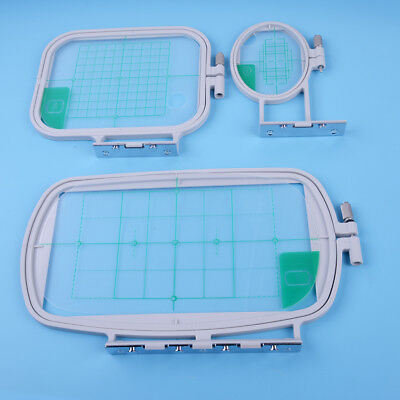 3Pcs Embroidery Hoops Frame Set Kit Fit Brother SE350 SE400 PE500 Machine