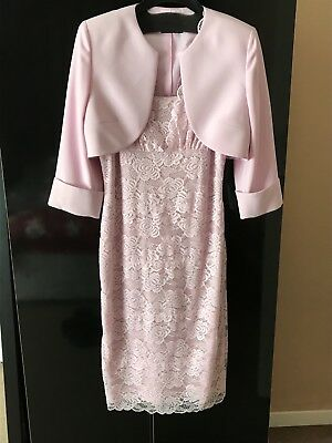 ladies dress and jacket, pink lace dress size 10, never worn ideal for wedding