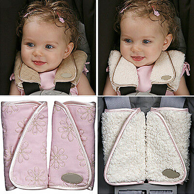 LX_ 1 Pair Baby Car Seat Belt Strap Cover Pads Highchair Stroller Shoulder Pro