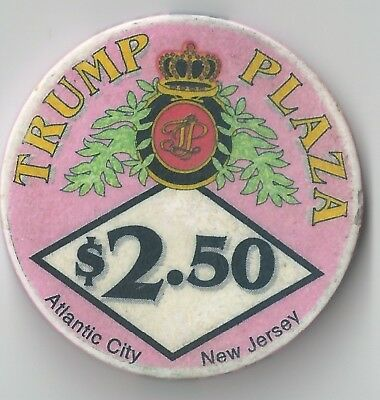 $2.50 Atlantic City 4Th Edt Trump Plaza Casino Chip Chipco Pink Closed For Good