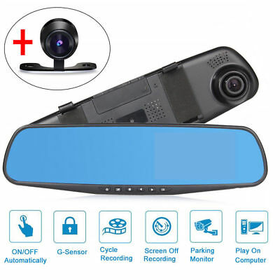 "7.84"" Touch Special Car DVR Camera Mirror GPS Bluetooth Android Dual Lens FHD 12"