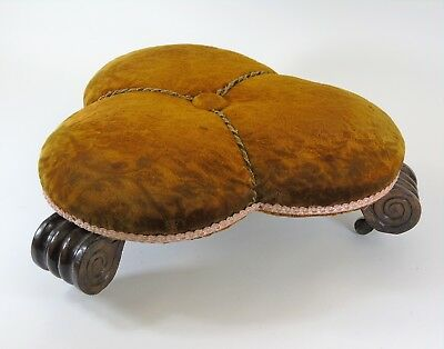William IV Trefoil Shaped Simulated Rosewood Footstool