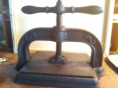 Antique Cast Iron Straight Handle Book / Copy Press.