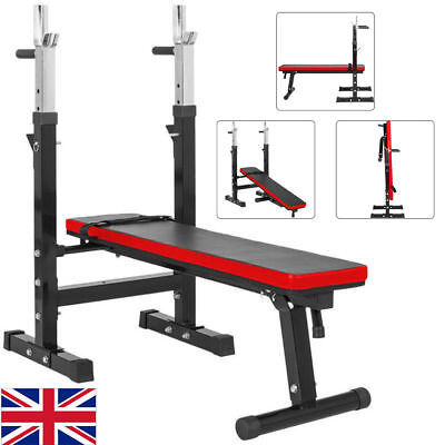 Adjustable Folding Sit Up Bench Barbell Weight Workout Gym Lifting Chest Press