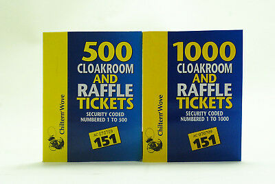 raffle tickets 4 books of 500 cloakroom fund raising tombola