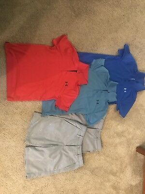 Boys Golf Clothing Lot, Under Armour shorts and shirts, size Youth Medium/10