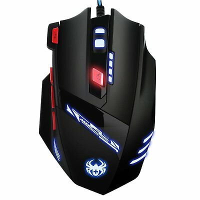 AMIR Gaming Maus 9200DPI Gamer USB Kabel Gaming mit 8 Tasten LED USB-Wired