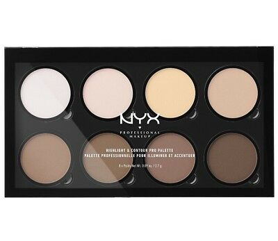 Neu* NYX PALETTE CONTOURING HIGHLIGHTER 01 Helle bis dunkle Haut - Make-up