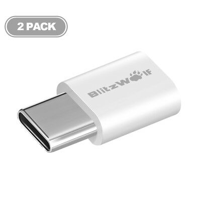 BlitzWolf BW-A2 USB Type-C to Micro USB Connector USB 2PCS Adapter C [From US]