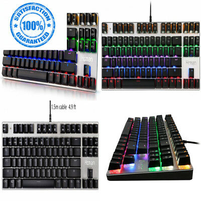 2633faa892a HCMAN MECHANICAL KEYBOARD Blue Switches,Gaming 9 LED Backlit Modes,Metal...  - £35.99 | PicClick UK